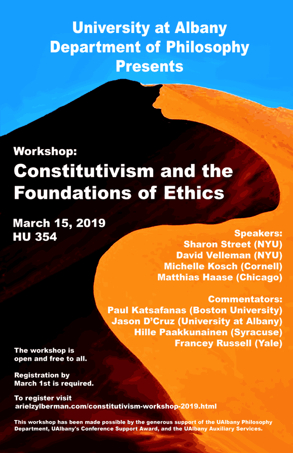 conference poster for constitutivism workshop